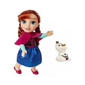 Boneca Articulada Anna Passeio com Olaf - Frozen - MIMO