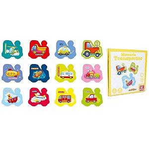 Jogo Da Memória Transportes 24 peças - Brincadeira De Criança