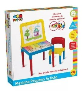 Mesa Mesinha Infantil Didática Lousa Pequeno Artista - Bell Toy