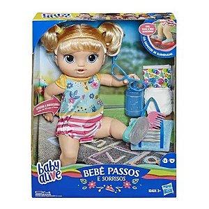 Boneca Baby Alive Loira - Sapatinhos Brilhantes - Hasbro