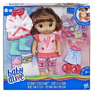 Boneca Baby Alive Vestida Para Passear Morena - Hasbro