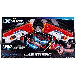 Lançador X-Shot Laser 360 - Candide