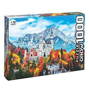 Quebra Cabeça Puzzle Castelo de Neuschwanstein 1000 peças - Grow