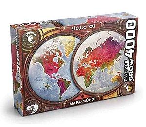 Quebra Cabeça (Puzzle) 4000 peças Mapa Mundi - Grow
