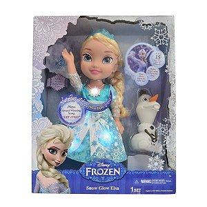 Boneca Elsa Frozen Neve Brilhante de Luxo - Sunny