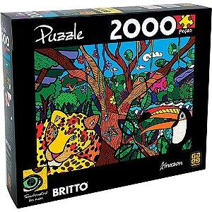 Quebra Cabeça Romero Britto -  Amazon 2000 Peças - Grow