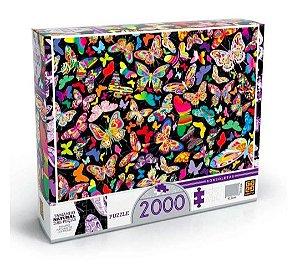 Quebra Cabeça (Puzzle) 2000 Peças Borboletas Grow