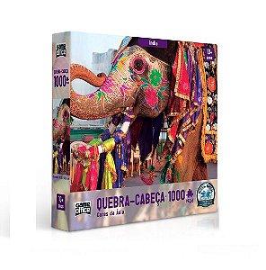 Quebra Cabeça Cores da Índia 1000 peças - Game Office
