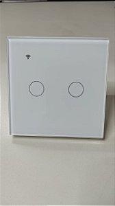 Interruptor touch Wifi alexa Google assistence 2 canais