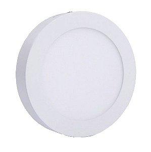 Luminária Plafon Led 24w Sobrepor Redondo Branco Frio
