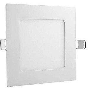 Luminária Plafon Led 3w Embutir Quadrado Branco Frio