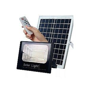 Refletor Placa Solar Led 200w Controle Remoto Branco Frio