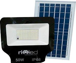 Refletor Placa Solar Led 100w Controle Remoto