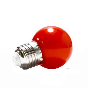 Lâmpada Bolinha Led Decorativa 1W Vermelho