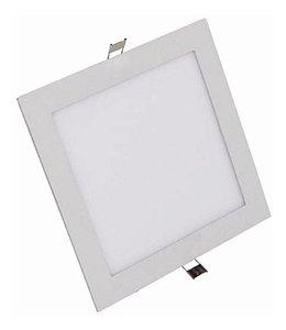 Luminária Plafon Led 24w Embutir Quadrado Branco Frio
