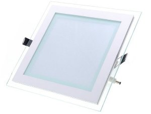 Luminária Plafon Led embutir quadrado borda vidro - 6w BF