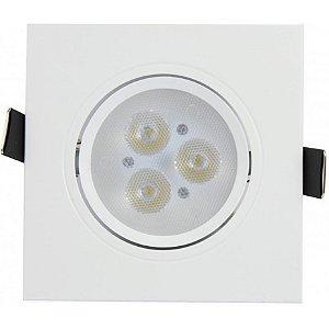 Downlight Spot Led Quadrado SMD 3W Branco Quente