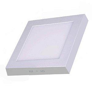Luminária Plafon Led 6w Sobrepor Quadrado Branco Frio