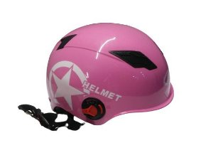 Capacete Scooter Elétrica Citycoco Rosa