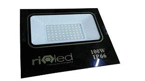 Refletor Led 100W SMD New Branco Frio