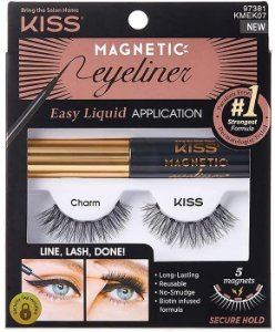 Cílios e Delineador Magnético Kit Kiss NY KMEK07
