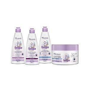 Kit Cachinhos Ondulados e Cacheados - Arvensis - 4 produtos