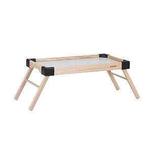 Bandeja servir Tramontina em madeira com pés retráteis
