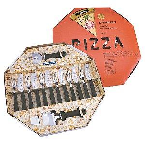 Conjunto para Pizza Tramontina Preto - 14 peças