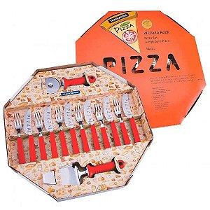 Conjunto para Pizza Tramontina Vermelho - 14 peças