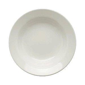 Prato Fundo Branco Cerâmica Oxford 22 cm