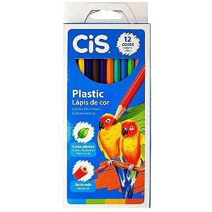 Lápis de Cor 12 Cores Plastic Cis