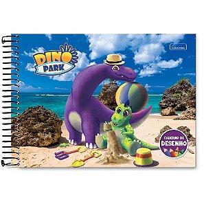 Caderno de Desenho Dino Park