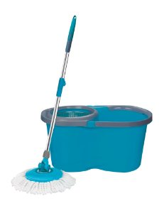 Esfregão Mop Além Mar 12l cesto inox+ 1 refil adicional