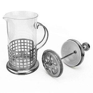 Cafeteira francesa Clink 600ml inox e vidro