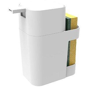 Porta Soprano Detergente / Esponja  600ml Branco