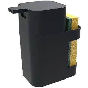 Porta Soprano Detergente / Esponja  600ml Preto