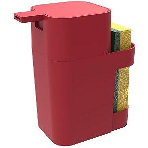 Porta Soprano Detergente / Esponja  600ml Vermelho