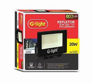 Refletor G-light Slim ECOLED 4GEN 20W 6500K AUTOVOLT