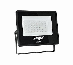Refletor G-light Slim ECOLED 4GEN 20W 120 Verde AUTOVOLT