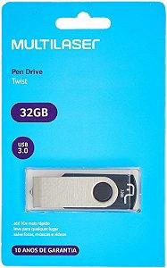 PENDRIVE MULTILASER TWIST PRETO 32GB - PD589