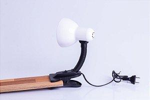Luminária Sukram maleável garra 60w Branca