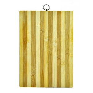 Tabua Casita Corte Bambu Multiuso Retangular 34X24Cm