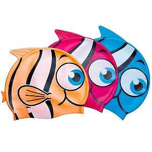 Touca de natação silicone peixinho Belfix cores sortidas