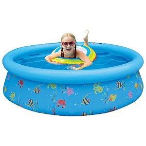 Piscina infantil inflável Belfix estampa divertida 500 L