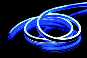 Mangueira natal Wincy Led neon azul  4 mts Del50093