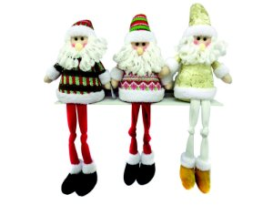 Papai Noel natalino Rocie c/peso Ntd1014 tamanho 58 cm