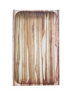 Gamela / Saladeira retangular madeira Tramontina 45cmx28cmx5cm