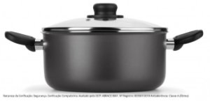 Caçarola Gourmet Multiflon Tampa Vidro Antiaderente Alumínio