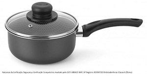 Panela Multiflon Gourmet Vapore Preto 16cm 1,4L 53116