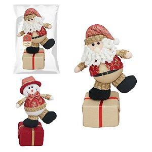 Boneco equilibrista natalino Zein com 39cm